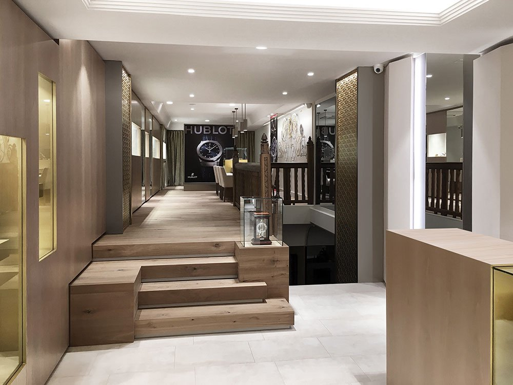 diseño interior joyería sánchez vallina